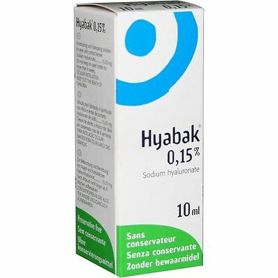 Hyabak 10 - 30ml Eye Drops for dry eyes Spectrum Thea Preservative Free