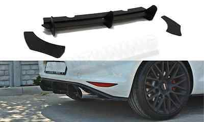 VW Golf MK7 7 VII GTI Low Rear Bumper Diffuser Spoiler Lip Valance Splitter