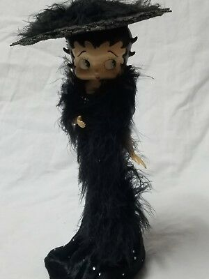 Betty Boop Black Evening Dress With Hat Jewelry Holder