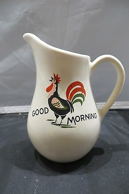 Pearl China Co. Vintage Hand Decorated Good Morning Rooster Pitcher Creamer