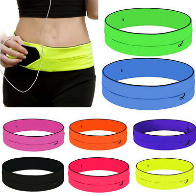Portable Belly Waist Fitness Running Jogging Cycling Belt Pouch Sports Bag Pack