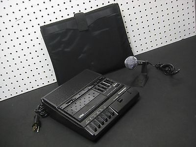 PANASONIC RR-830 Dictation Transcriber Recorder with Mic and Stand with Case