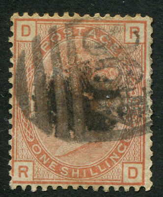 Gb Qv 1880 Sg151 One Shilling Orange Brown Plate 13 Stamp Cat.val $1400.00  G16