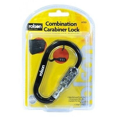 Rolson 3 Digit Combination Carabiner Lock For Suitcase Luggage Briefcase Travel