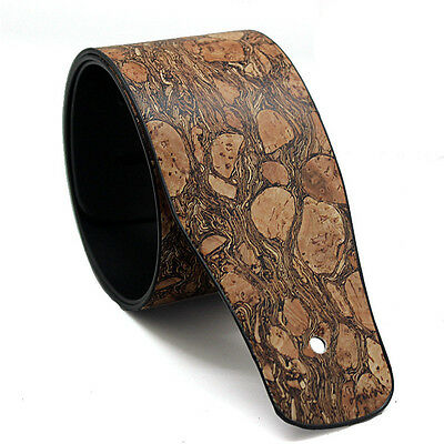 "2.5"" Wideth Adjustable PU Leather Strap for Electric Acoustic Guitar Bass Brown"