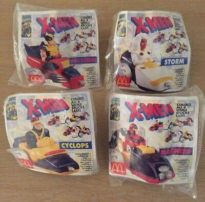 Marvel Comics X-Men Set of 4 - McDonalds Happy Meal Collectable Toys