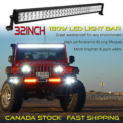 32inch LED Light Bar Off Road Truck Boat Ford Jeep SUV UTE ATV Boat Driving Fog