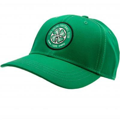 Celtic Football Club Green Embroidered Adult Cap Unisex Official Badge Crest Hat