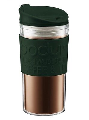 Bodum Travel Mug Dark Green 350ml Insulated Travel Flask