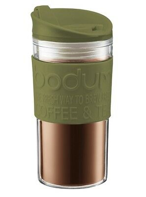 Bodum Travel Mug Olive 350ml Insulated Travel Flask