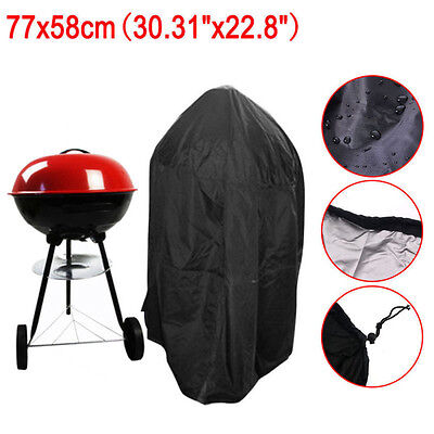 77cm Round Waterproof BBQ Barbecue Cover Barbue Protector with Storage Bag