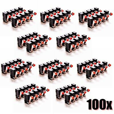 100x AC 5A 125V-250V Roller Lever Arm Terminals Micro Switch Limit ON/OFF KW12-3