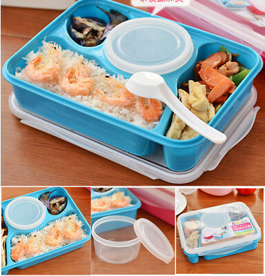 Portable Durable Bento Utensils Food Storage Lunch Container Microwave Oven Box