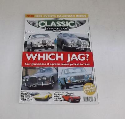 Classic & Sports Car Magazine January 2002 Which Jag Panteras  Free Postage