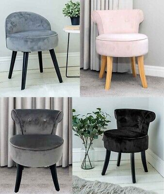 Pink and Plum Chenille Vanity Stool Dressing Table Chair Bedroom