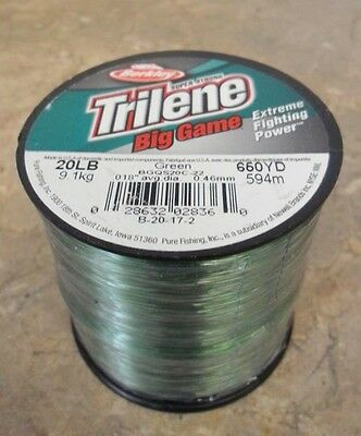 Berkley Trilene Big Game Mono Fishing Line, Green - 20lb - 650yds