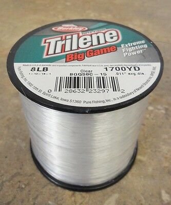 Berkley Trilene Big Game Mono Fishing Line, Clear - 8lb - 1700yds
