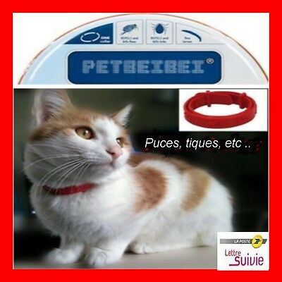 Collier anti puces chat chaton 28,5 cm protection 2 mois