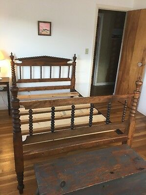 Early Spindle Rope Bed Vermont
