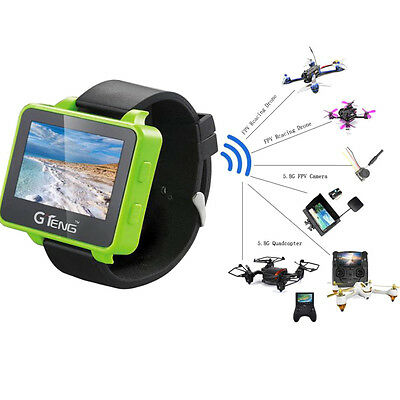 GTeng T909 5.8G 32CH 2.6 inch LCD Screen FPV Watch Wearable Receiver For Drone