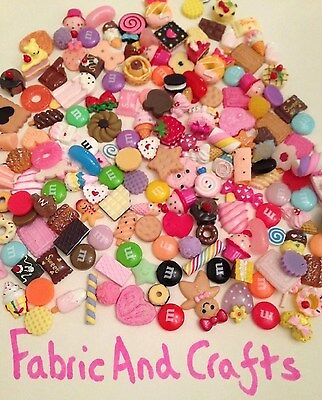 10/25/50/100 SWEETS/CAKES/FOOD FLATBACK CABOCHONS-RESIN DECODEN/KAWAII 10-30mm