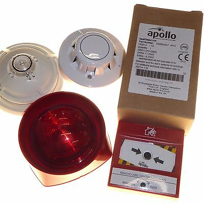 Joblot of fire safety accessories smoke alarm / heat detector call point Apollo