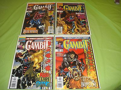 Gambit Modern age Marvel comic book set #1,2,3,4 complete limited series X-men