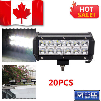 20 X 7inch 36w CREE LED Light Bar Work Flood Offroad Driving Bumper SUV Truck