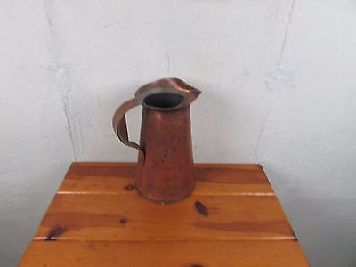 Copper Pitcher Antique Large 19th Century Victorian 1 gal Good Condition Solid