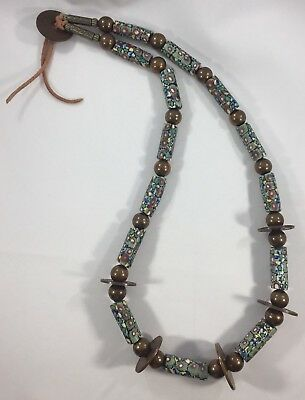 Vintage African Trade Beads Antique Venetian Glass Millifiori Necklace Strand