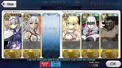 FGO / Fate Grand Order NA English Starter Global Account Atilla + Jeanne