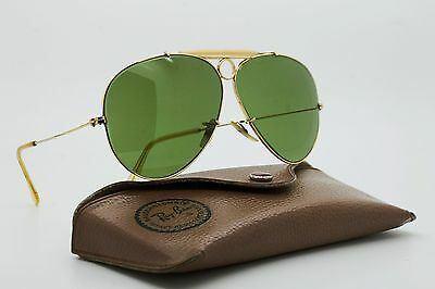 VINTAGE 70's Ray Ban SHOOTER 1/30 10K GO FRAME / GOLD / SUNGLASSES /   BL U.S.A