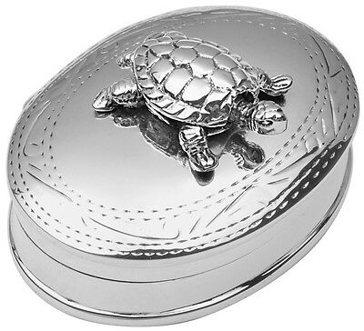 Moving Turtle Pillbox Sterling Silver 925 Hallmarked New From Ari D Norman