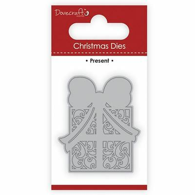 Trimcraft Dovecraft Christmas Mini Metal Card Craft Dies Set - Present