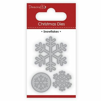 Trimcraft Dovecraft Christmas Mini Metal Card Craft Dies Set - Snowflakes