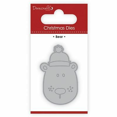 Trimcraft Dovecraft Christmas Mini Metal Card Craft Dies Set - Bear