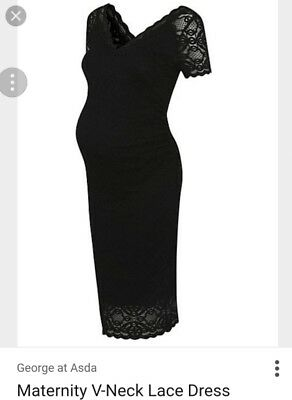 Black maternity wrap dress from george at asda size 14 for George at asda wedding dresses