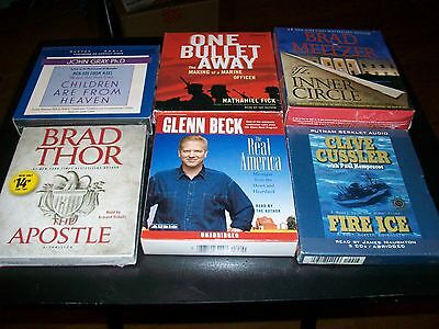 Lot Of 6..Audiobooks On Compact Discs..New & Sealed..Inner Circle..Fire Ice..ETC