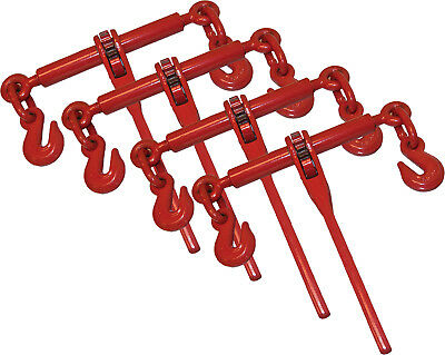 "4 Piece Ratchet Load Lever Binder 3/8"" 1/2"" Chain Binders Tie Down"