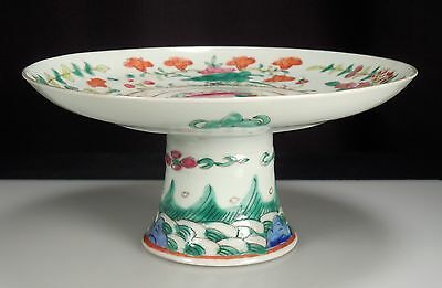 Chinese Porcelain Footed Dish 6.75""