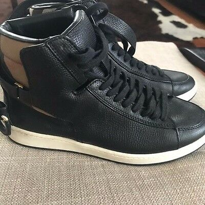 Burberry Women's High-Top Sneakers Shoes, Black - Size 37 7