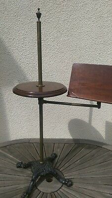Antique Brass & Mahogany Reading/music Stand
