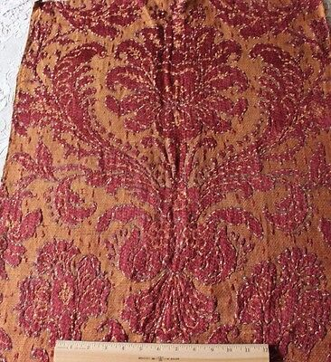 Exquisite French Antique 19thC Silk & Linen Home Dec Frame Fabric Sample