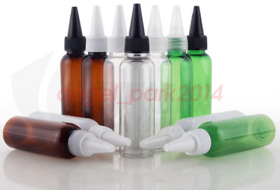 Lots 50 100pcs 60ml (2 OZ) empty unicorn plastic dropper bottles twist cap PET