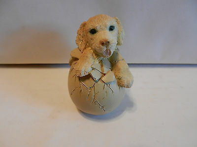 "Golden Retriever ""hatchling""  Egg by  Corlett Collectables 3"" 1993 (7)"