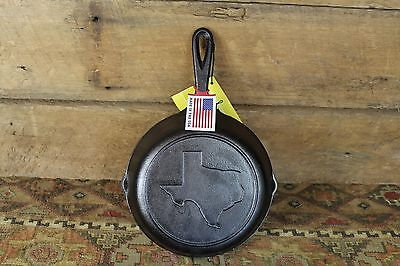 New Lodge Cast Iron Texas Advertising Skillet No.5