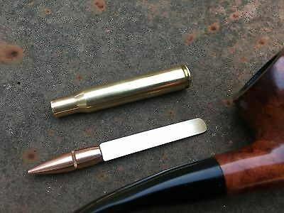 Bullet Pipe Tool w/ Tamper and Scraper Handmade in the USA from military .30-06