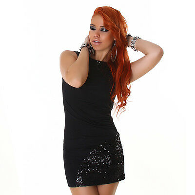 Womens Sequin Embellished Sexy Evening Party Mini Dress size 10 12