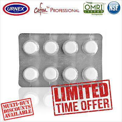 Urnex CAFIZA 8 Cleaning Tablets Cleaner Coffee Espresso Machine Organic