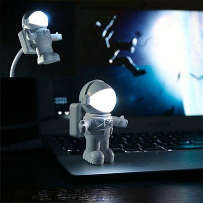 Flexible Spaceman Astronaut USB Mini LED Night Light Lamp For Computer Laptop PC